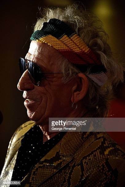 "Musician Keith Richards attends the ""Keith Richards: Under The Influence"" premiere during the 2015 Toronto International Film Festival at Princess of..."