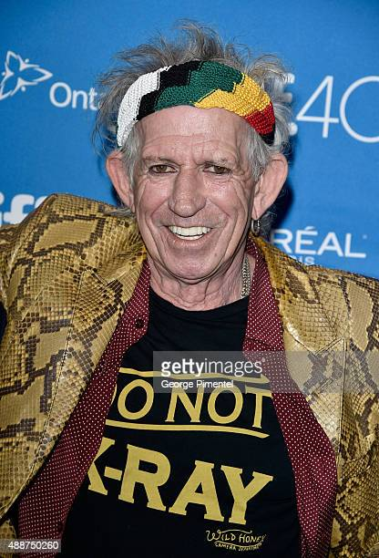 Musician Keith Richards attends the 'Keith Richards Under The Influence' press conference at the 2015 Toronto International Film Festival at TIFF...