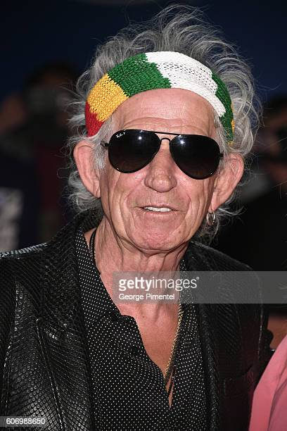 Musician Keith Richards attends 'The Roling Stones Ole Ole Ole!: A Trip Across Latin America' Premiere during the 2016 Toronto International Film...