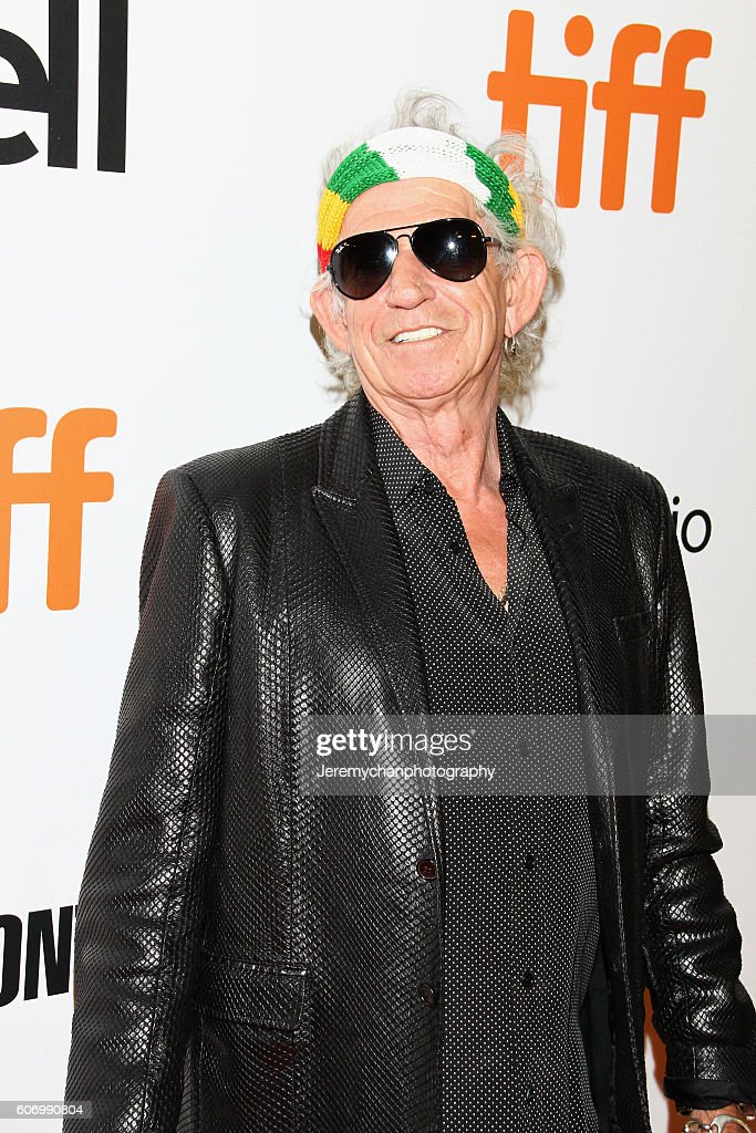 Musician Keith Richards attends the 'The Rolling Stones Ole Ole Ole!: A Trip Across Latin America' premiere held at Roy Thomson Hall during the Toronto International Film Festival on September 16, 2016 in Toronto, Canada.
