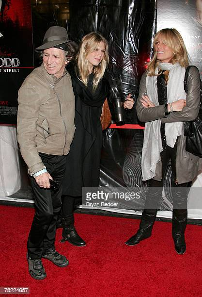 Musician Keith Richards daughter Alexandra Richards and wife Patti Hansen attend the New York premiere of Sweeney Todd The Demon Barber Of Fleet...