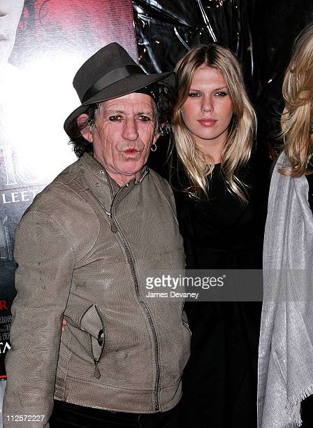 Musician Keith Richards of the Rolling Stones and wife Patti Hansen arrive at the Sweeney Todd The Demon Barber of Fleet Street premiere at the...