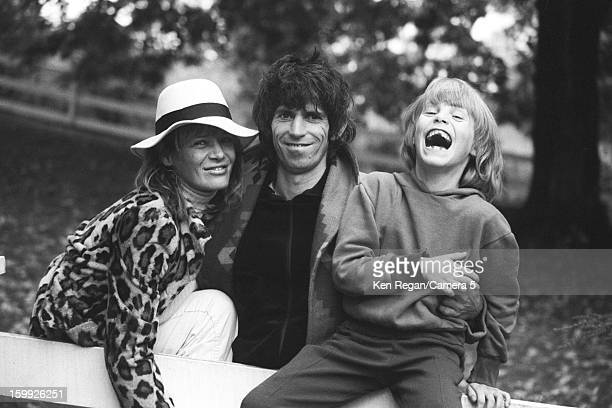 Musician Keith Richards of the Rolling Stones Anita Pallenberg and son Marlon are photographed at home in 1977 in Weston Connecticut CREDIT MUST READ...