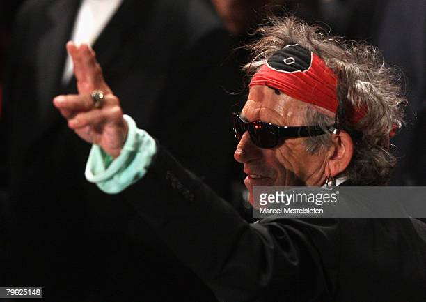 Musician Keith Richards of the Rolling Stones attends the 'Shine A Light' Premiere as part of the 58th Berlinale Film Festival at the Berlinale...