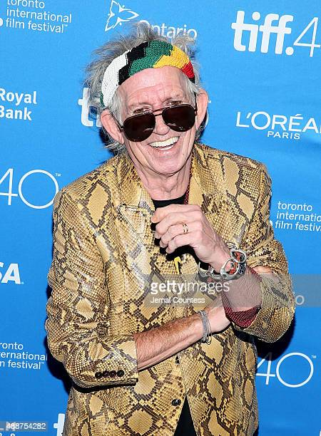 "Musician Keith Richards speaks onstage during the ""Keith Richards: Under The Influence"" press conference at the 2015 Toronto International Film..."