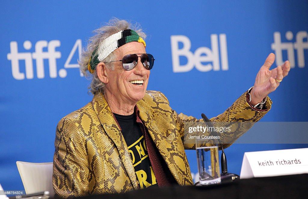 "2015 Toronto International Film Festival - ""Keith Richards: Under The Influence"" Press Conference : News Photo"