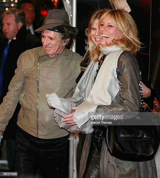 Musician Keith Richardswife Patti Hansen and daughter Alexandra Richards attend the New York Premiere of the movie Sweeney Todd The Demon Barber Of...