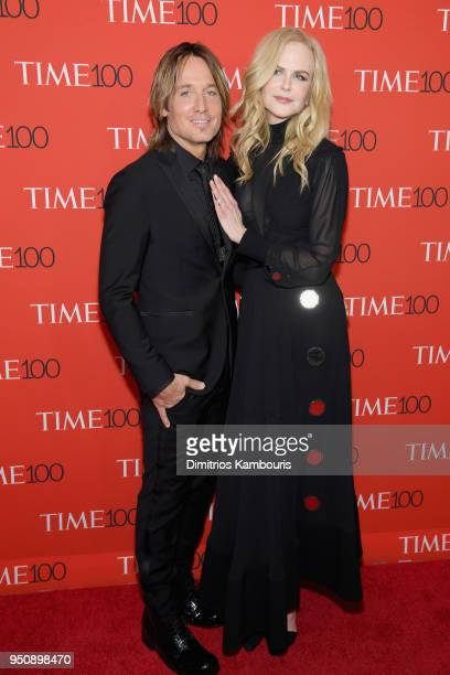 Musician Keith Urban and actor Nicole Kidman attend the 2018 Time 100 Gala at Jazz at Lincoln Center on April 24 2018 in New York City