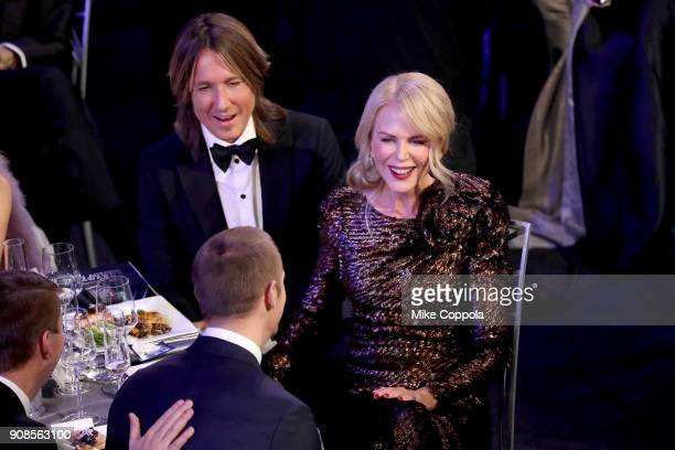 Musician Keith Urban and actor Nicole Kidman attend the 24th Annual Screen Actors Guild Awards at The Shrine Auditorium on January 21 2018 in Los...