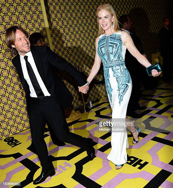 Musician Keith Urban and actress Nicole Kidman arrive at HBO's Annual Emmy Awards Post Awards Reception at the Pacific Design Center on September 23...