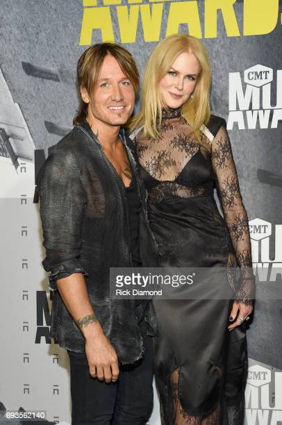 Musician Keith Urban and actress Nicole Kidman attend the 2017 CMT Music awards at the Music City Center on June 7 2017 in Nashville Tennessee