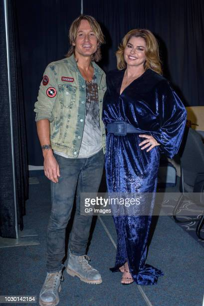 Musician Keith Urban and host Shania Twain attend The 36th Annual Canadian Country Music Awards at FirstOntario Centre on September 9 2018 in...