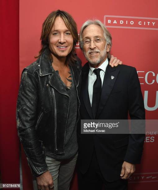 Musician Keith Urban and Recording Academy and MusiCares President and CEO Neil Portnow attend MusiCares Person of the Year honoring Fleetwood Mac at...