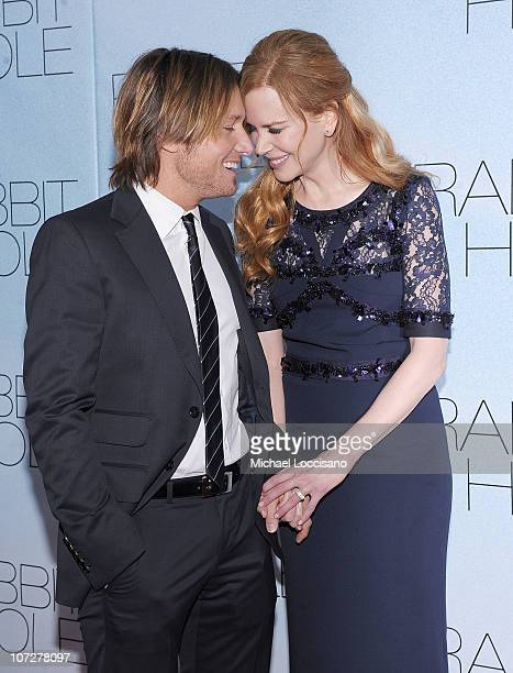 Musician Keith Urban and wife actress Nicole Kidman attend the premiere of Rabbit Hole at the Paris Theatre on December 2 2010 in New York City