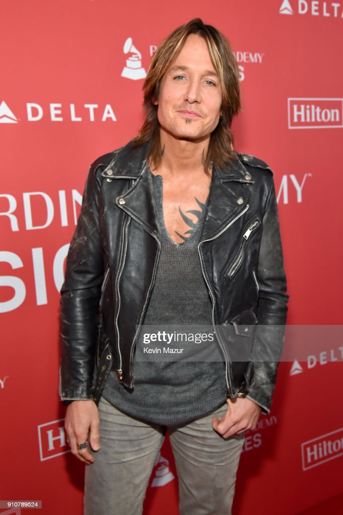 Musician Keith Urban attends MusiCares Person of the Year honoring Fleetwood Mac at Radio City Music Hall on January 26, 2018 in New York City.