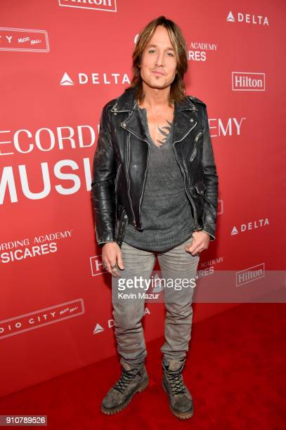 Musician Keith Urban attends MusiCares Person of the Year honoring Fleetwood Mac at Radio City Music Hall on January 26 2018 in New York City