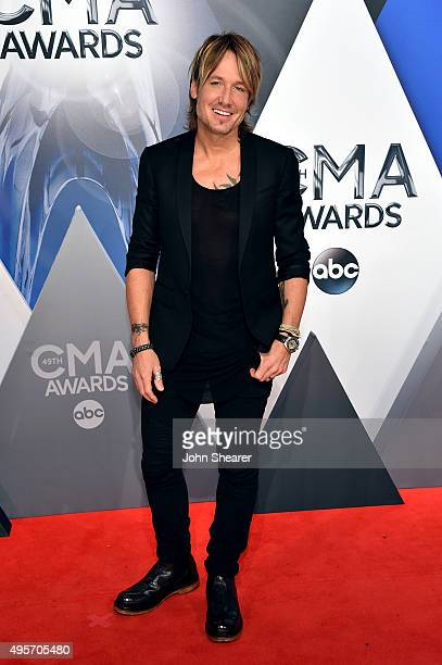 Musician Keith Urban attends the 49th annual CMA Awards at the Bridgestone Arena on November 4, 2015 in Nashville, Tennessee.
