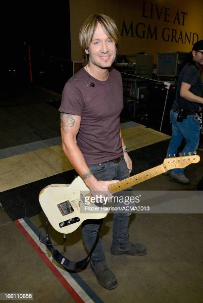 Musician Keith Urban attends Tim McGraw's Superstar Summer Night presented by the Academy of Country Music at the MGM Grand Garden Arena on April 8...