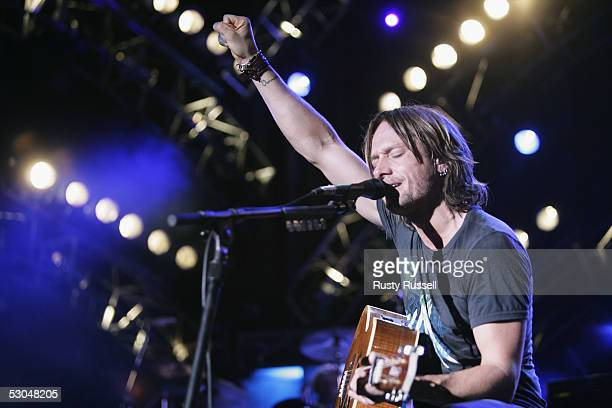 Musician Keith Urban performs at the CMA Music Festival June 9 2005 in Nashville Tennessee