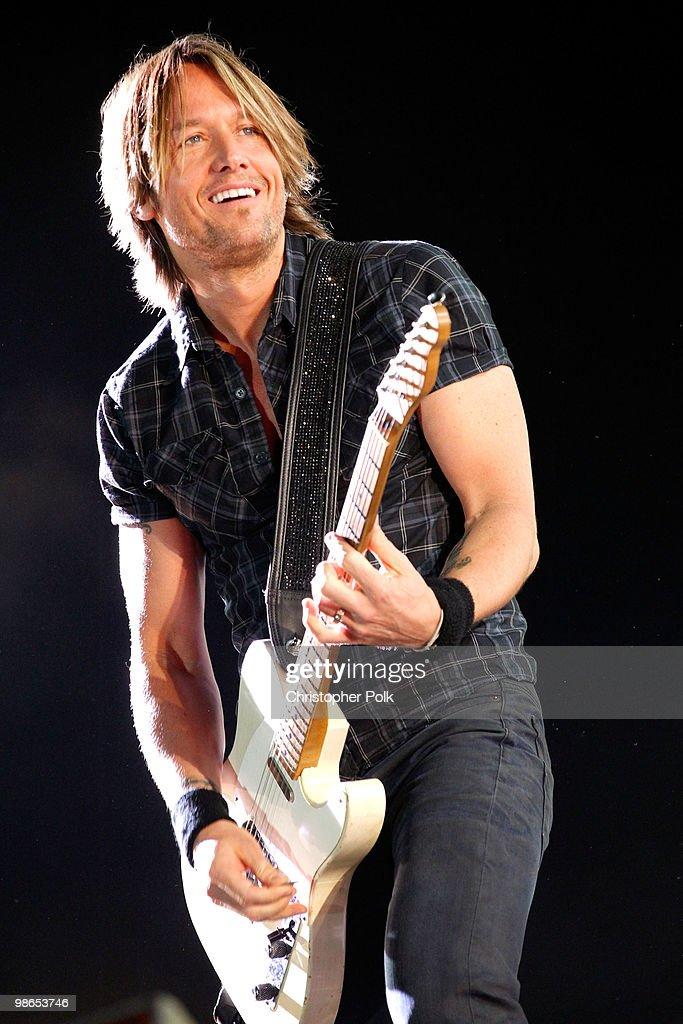 Musician Keith Urban performs during day 1 of Stagecoach: California's Country Music Festival 2010 held at The Empire Polo Club on April 24, 2010 in Indio, California.