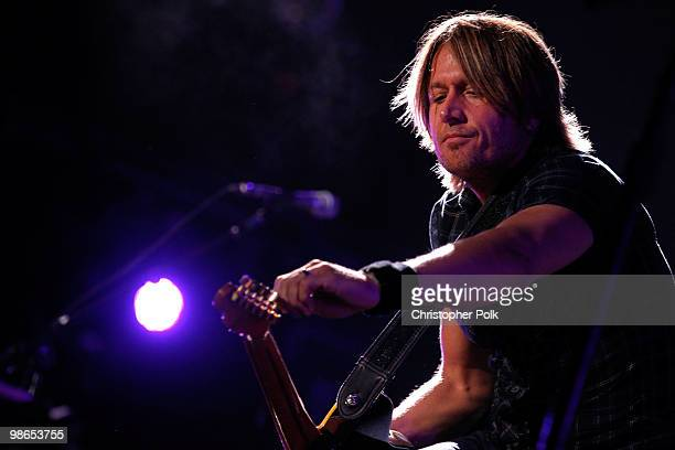 Musician Keith Urban performs during day 1 of Stagecoach California's Country Music Festival 2010 held at The Empire Polo Club on April 24 2010 in...
