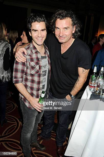 Musician Kelly Jones and Ant Genn attend an after party following the press night performance of 'Uncle Vanya' at The Charing Cross Hotel on November...