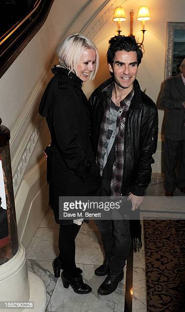 Musician Kelly Jones and Jakki Healy attend an after party following the press night performance of 'Uncle Vanya' at The Charing Cross Hotel on...