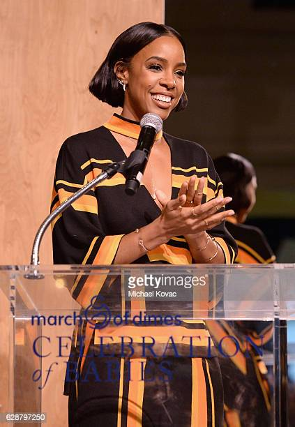Musician Kelly Rowland speaks onstage during the 2016 March of Dimes Celebration of Babies at the Beverly Wilshire Four Seasons Hotel on December 9...