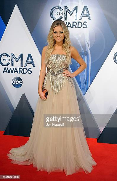 Musician Kelsea Ballerini attends the 49th annual CMA Awards at the Bridgestone Arena on November 4 2015 in Nashville Tennessee