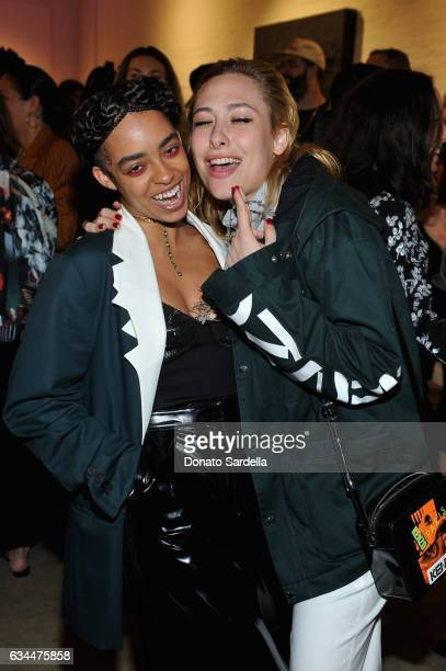 Musician Kelsey Lu and singer Samantha Urbani attend the Premiere of KENZO Presents 'Music Is My Mistress' a film by Kahlil Joseph at The Underground...
