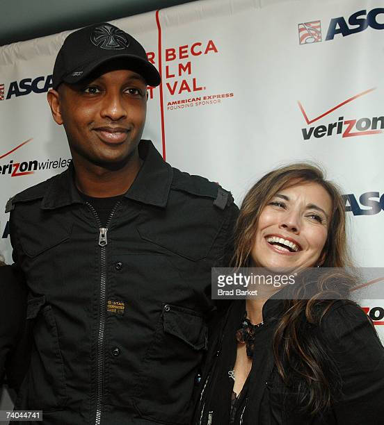 Musician Kenna and ASCAP's Loretta Munoz pose at the ASCAP Tribeca Music Lounge held at the Canal Room during the 2007 Tribeca Film Festival on May...