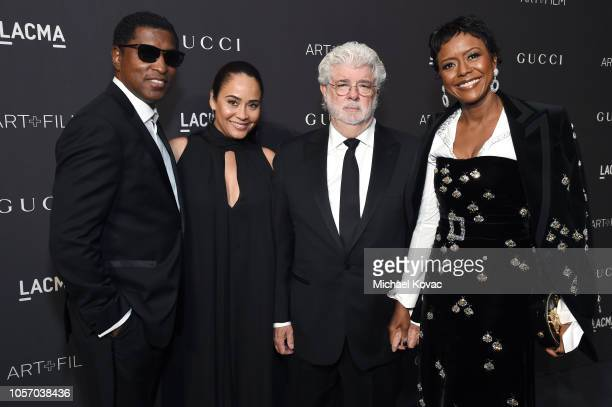 Musician Kenneth 'Babyface' Edmonds actor Nicole Pantenburg directorproducer George Lucas and Ariel Investments President Mellody Hobson attend 2018...
