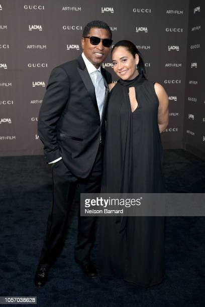 Musician Kenneth 'Babyface' Edmonds and actor Nicole Pantenburg attend 2018 LACMA Art Film Gala honoring Catherine Opie and Guillermo del Toro...