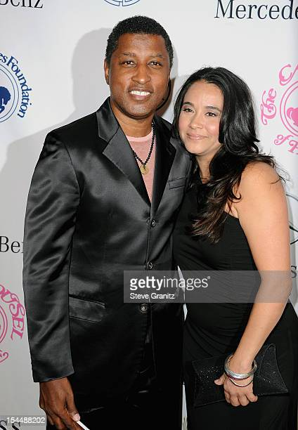Musician Kenneth 'Babyface' Edmonds and Dylan Michael arrive at the 26th Anniversary Carousel Of Hope Ball presented by MercedesBenz at The Beverly...
