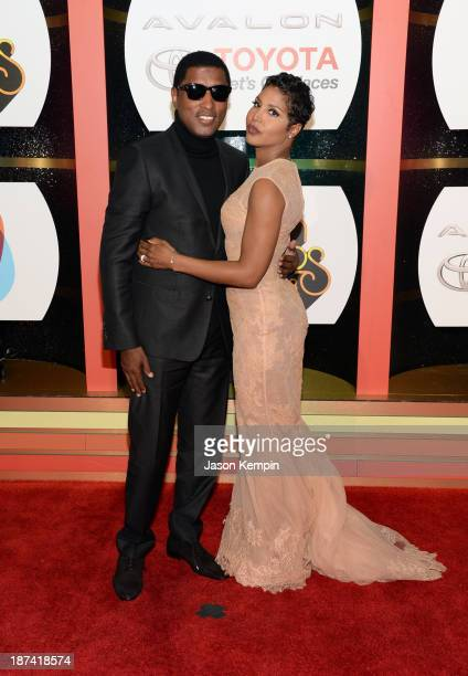"Musician Kenneth ""Babyface"" Edmonds and singer/songwriter Toni Braxton attend the Soul Train Awards 2013 at the Orleans Arena on November 8, 2013 in..."
