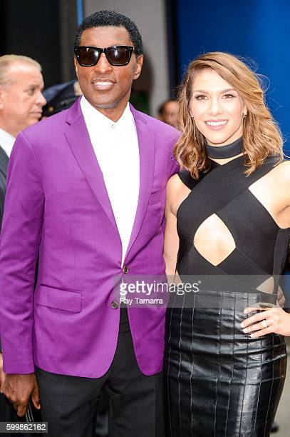 Musician Kenny 'Babyface' Edmonds and professional dancer Allison Holker leaves the 'Good Morning America' taping at the ABC Times Square Studios on...