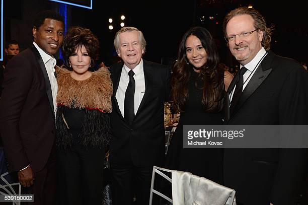 Musician Kenny 'Babyface' Edmonds songwriter Carole Bayer Sager AFI Chairman of the Board Bob Daly Nicole Pantenburg and AFI President and CEO Bob...