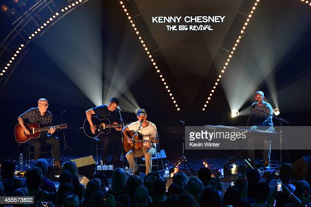 Musician Kenny Chesney performs at the iHeartRadio Album Release Party with Kenny Chesney at iHeartRadio Theater on September 12 2014 in Burbank...