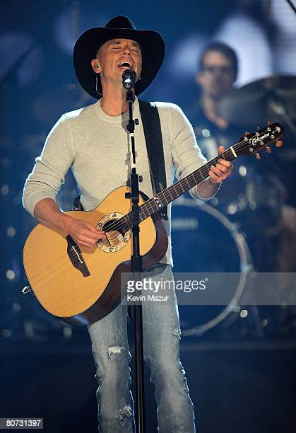 "Musician Kenny Chesney performs ""Never Wanted Nothing More"" onstage during the 2008 CMT Music Awards at the Curb Event Center at Belmont University..."