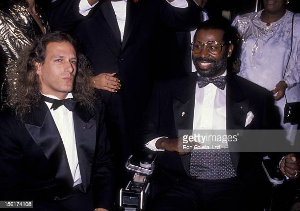 Musician Kenny G and singer Teddy Pendergrass attend CORE Tribute Honoring Martin Luther King Jr on January 15 1990 at the Sherton Hotel in New York...
