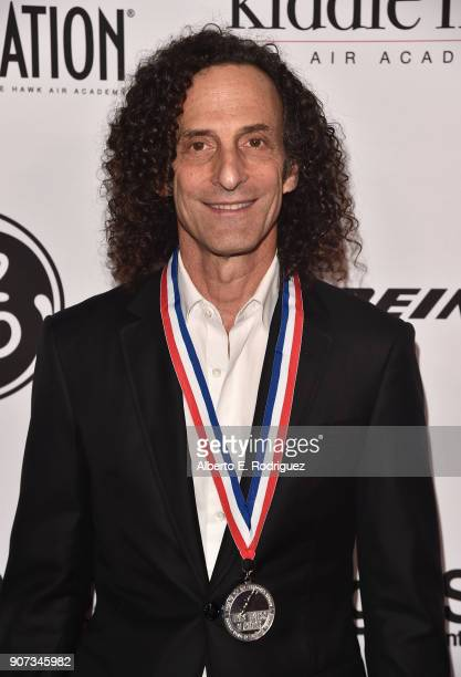 Musician Kenny G attends the 15th Annual Living Legends of Aviation Awards at the Beverly Hilton Hotel on January 19 2018 in Beverly Hills California
