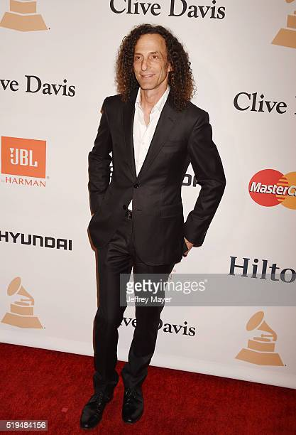 Musician Kenny G attends the 2016 PreGRAMMY Gala and Salute to Industry Icons honoring Irving Azoff at The Beverly Hilton Hotel on February 14 2016...