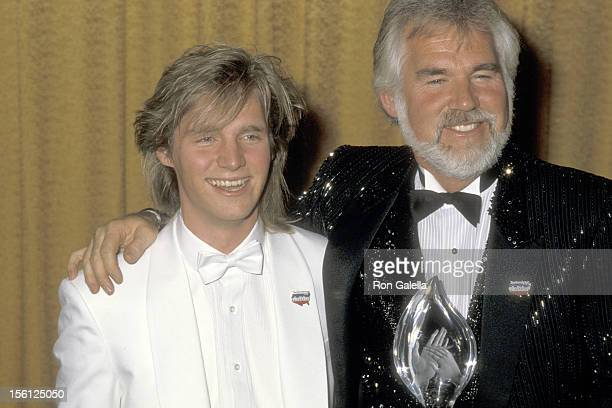 Musician Kenny Rogers and son Kenny Rogers Jr attend the 12th Annual People's Choice Awards on March 11 1986 at Santa Monica Civic Auditorium in...