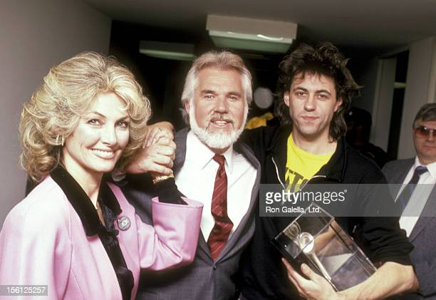 Musician Kenny Rogers and wife Marianne Gordon and Musician/Political Activist attend the Fourth Annual World Hunger Media Awards on November 26 1985...