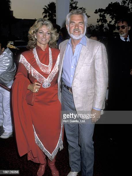 Musician Kenny Rogers and wife Marianne Gordon attend 33rd Annual SHARE Boomtown Party on May 17 1986 at Santa Monica Civic Auditorium in Santa...