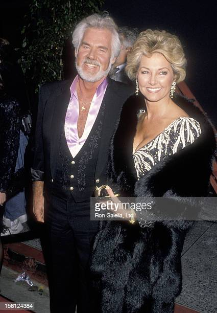 Musician Kenny Rogers and wife Marianne Gordon attend the 16th Annual People's Choice Awards on March 11 1990 at Universal Amphitheatre in Universal...