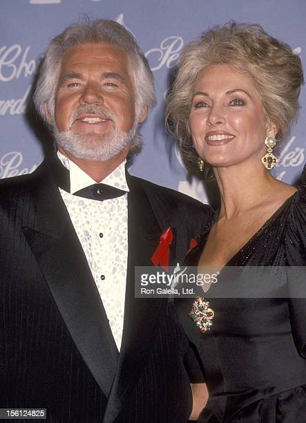Musician Kenny Rogers and wife Marianne Gordon attend the 18th Annual People's Choice Awards on March 17 1992 at Universal Studios in Universal City...
