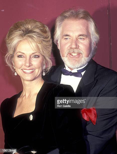 Musician Kenny Rogers and wife Marianne Gordon attend the 18th Annual International Emmy Awards on November 19 1990 at Sheraton Centre Hotel in New...