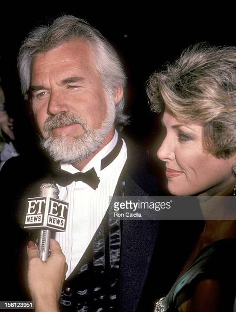 Musician Kenny Rogers and wife Marianne Gordon attend the 1984 Carousel of Hope Ball on October 13 1984 at Currigan Hall in Denver Colorado