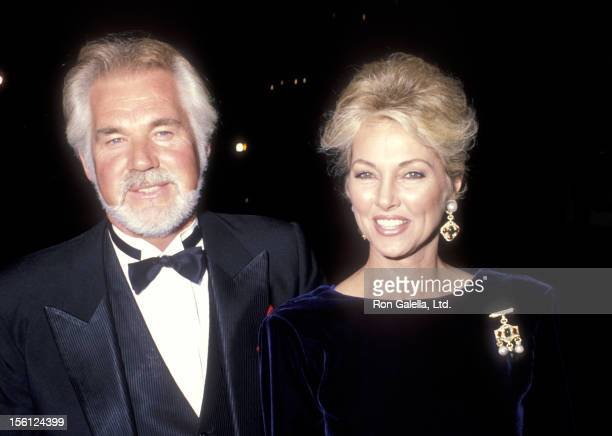 Musician Kenny Rogers and wife Marianne Gordon attend the 1990 Carousel of Hope Ball on October 26 1990 at Beverly Hilton Hotel in Beverly Hills...